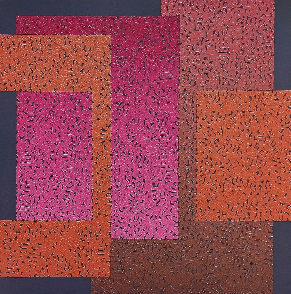 Modus Six, 2020, oil on canvas, 80 x 80 cm