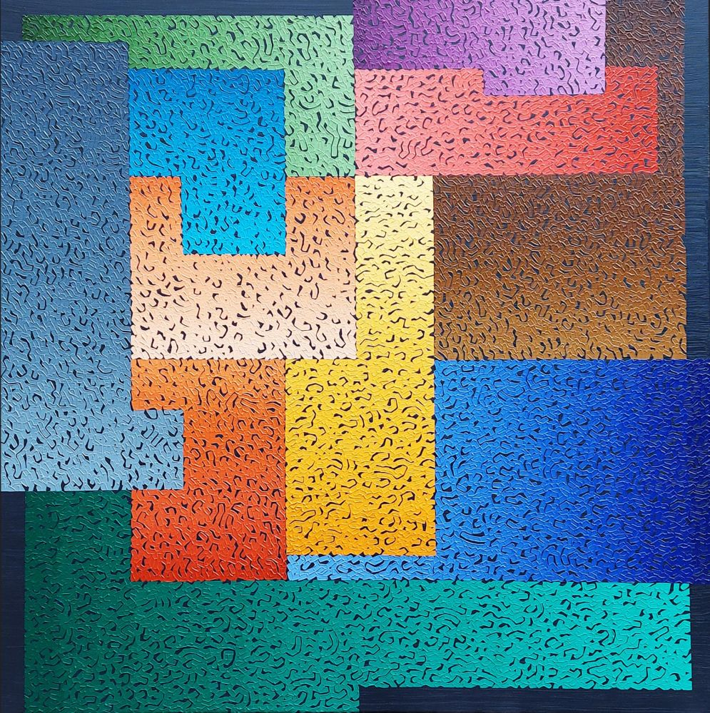 Modus Varition 11_18, oil on canvas, 110 x 110cm, 2021