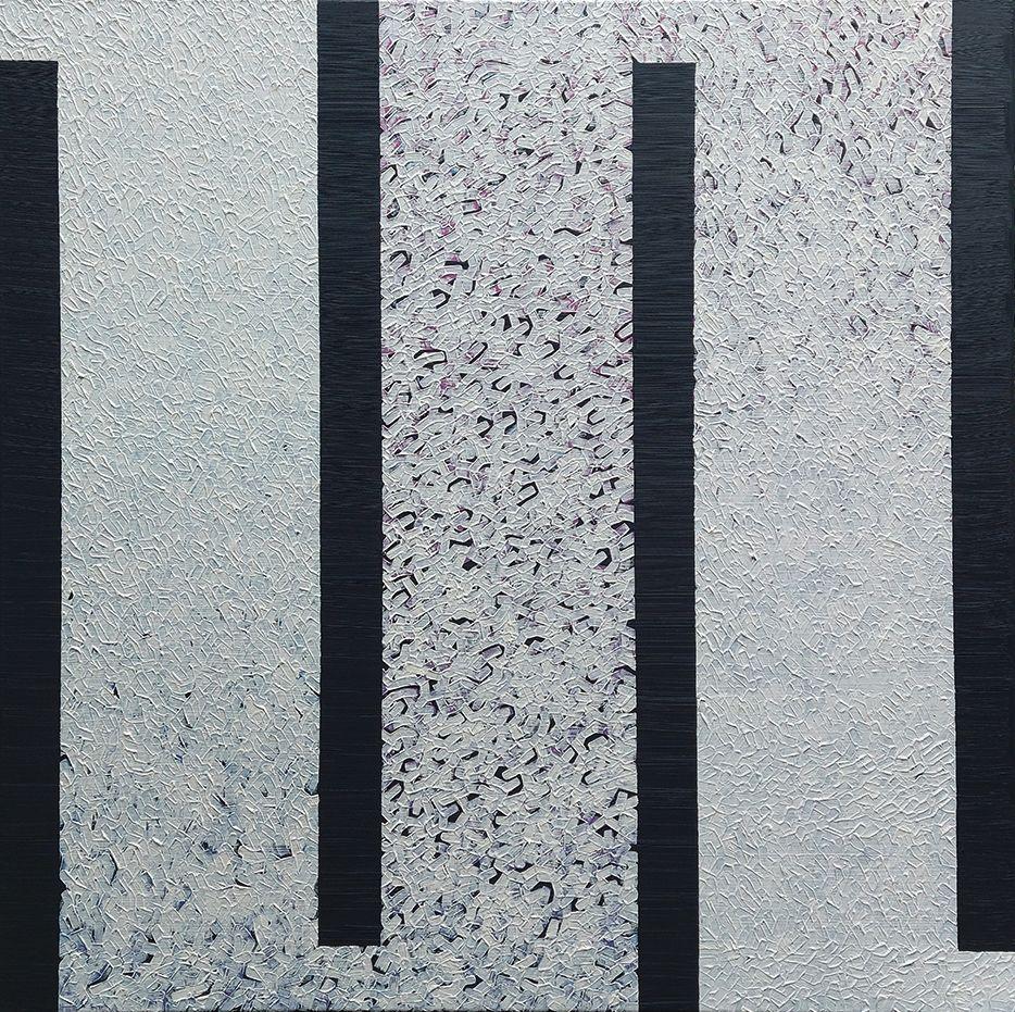 Modus, Variation Seven, oil on canvas, 80 x 80cm, 2021