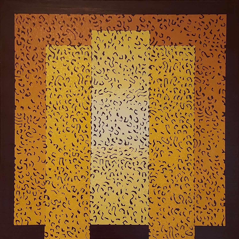 Modus Nine, 2021, oil on canvas, 80 x 80 cm