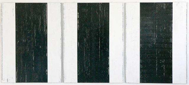 Three, oil on wood, 122 cm x 280 cm, 2011