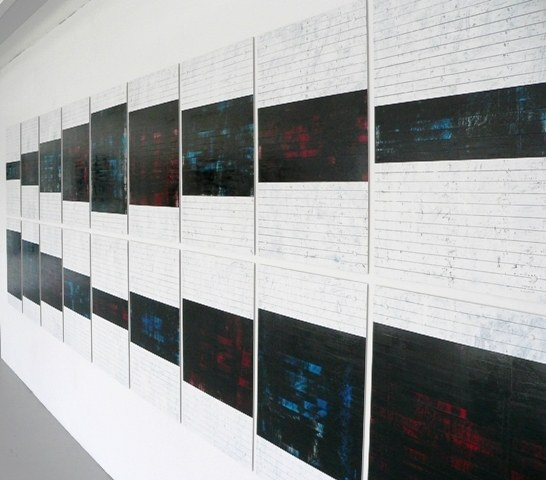 Eighteen, oil on card, 155 cm x 523 cm, 2010 - 2011