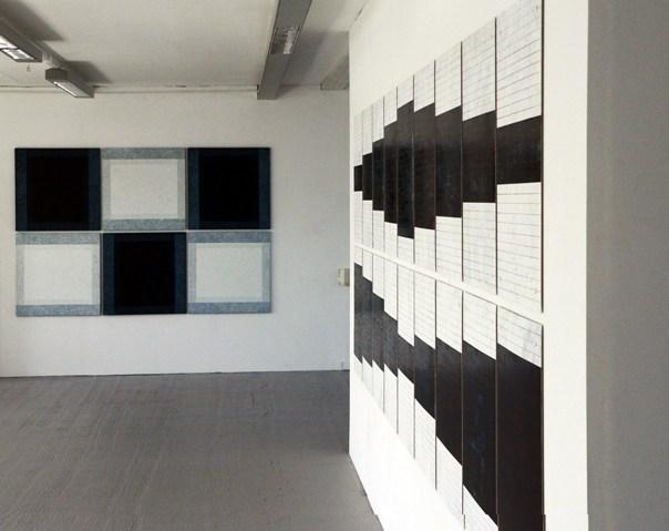 Black White Score Installation