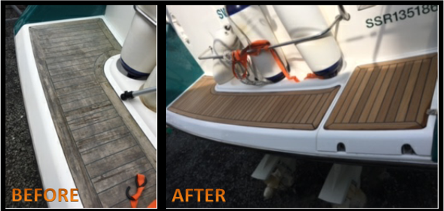 BEFORE AND AFTER TEAK