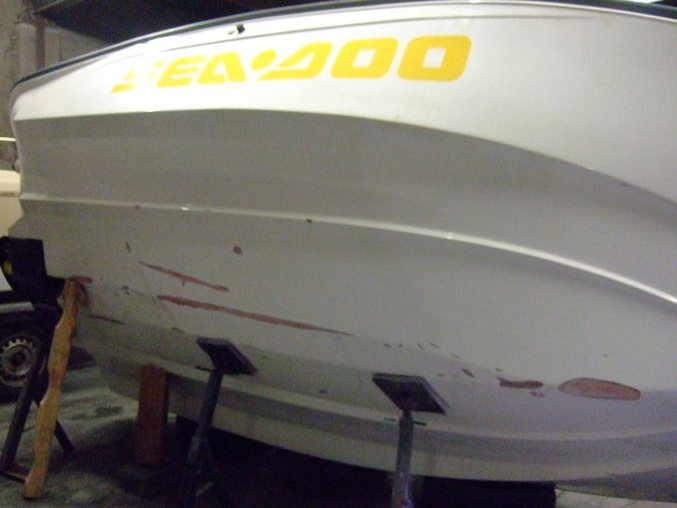 jet boat - under hull