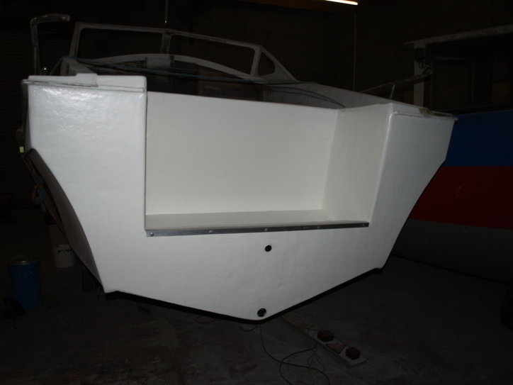 rear of wayne dicker boat finished