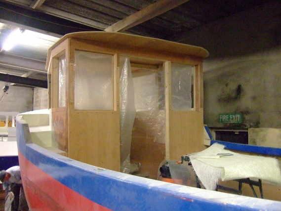 lifeboat new wheelhouse built