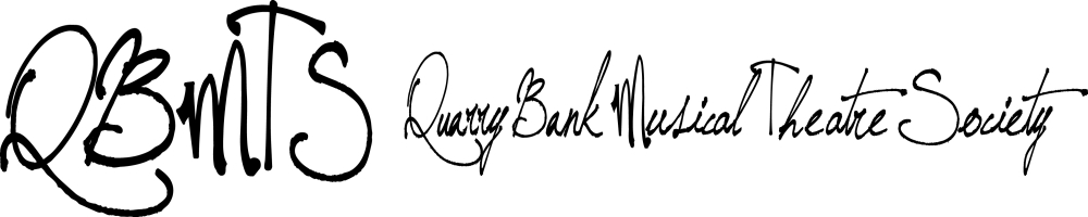 Quarry Bank Musical Theatre Society, site logo.
