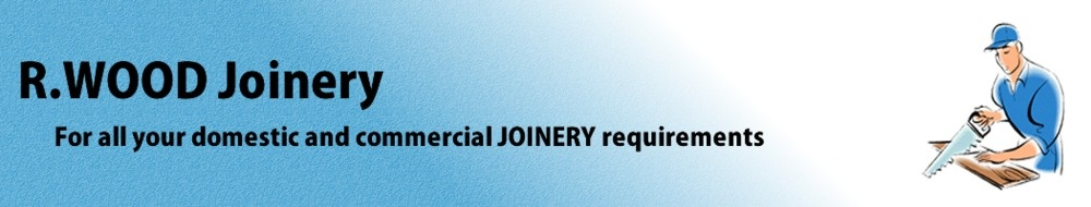 R. Wood Joinery, site logo.