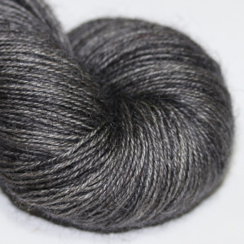 4ply Wensleydale and Shetland - charcoal WS