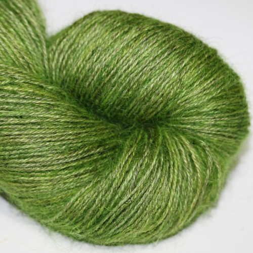 4ply Wensleydale and Shetland - lime WS