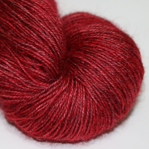 4ply Wensleydale and Shetland - red WS