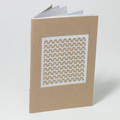 garter stitch A6 notebook