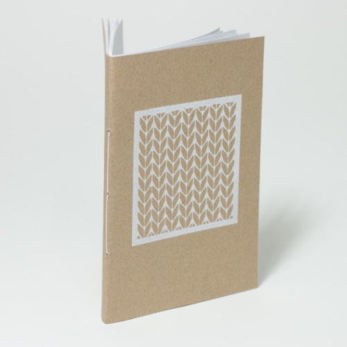 stocking stitch A6 notebook
