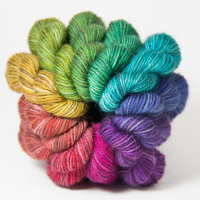 <!-- 003 -->4ply wool and nylon - Mini Skein Sets