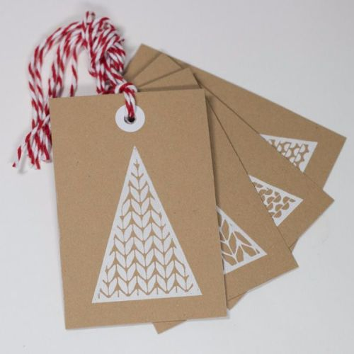 Tree Print Tags on Kraft Card