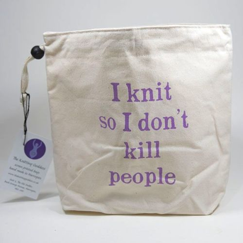 Little Project Bag - I knit so I don't kill people