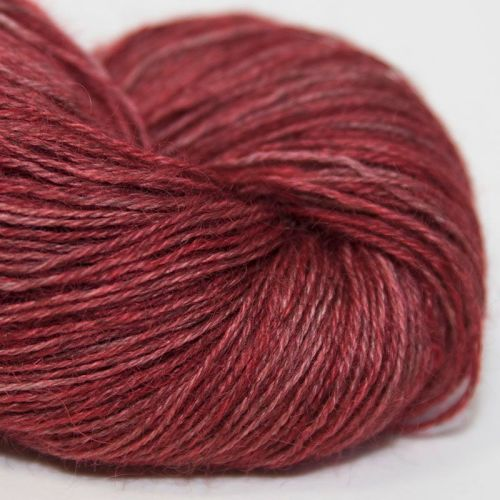4ply Wensleydale and Shetland - red 17B