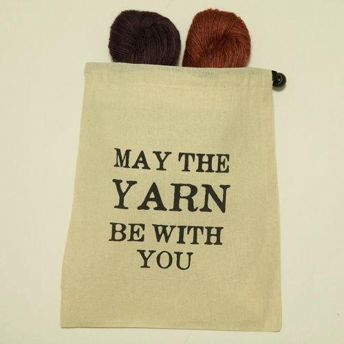 May The Yarn Be With You Project Bag