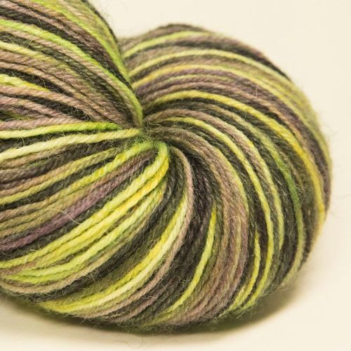 4ply wool and nylon - Green Orchid 17F