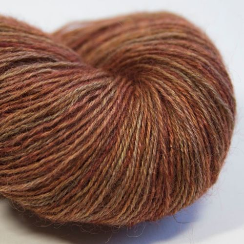 4ply Wensleydale and Shetland - copper 17H