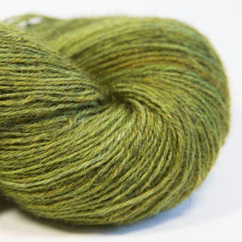 4ply Wensleydale and Shetland - lime 17H