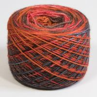 4ply BFL & nylon - self striping
