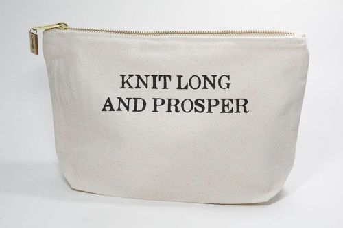Zipped Cotton Bag - Knit Long and Prosper