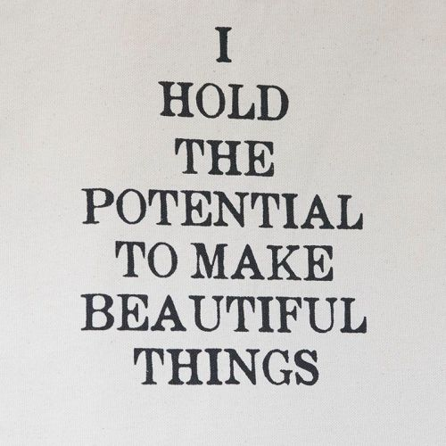 Heavy Canvas Tote Bag - I HOLD THE POTENTIAL