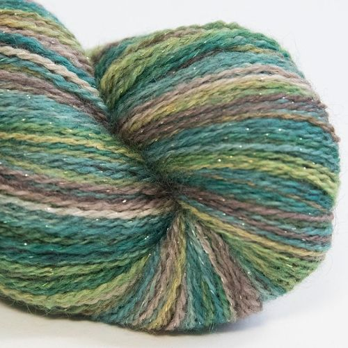 <!-- 005 -->4ply BFL & Masham Sparkle - Walnut Tree 17Z