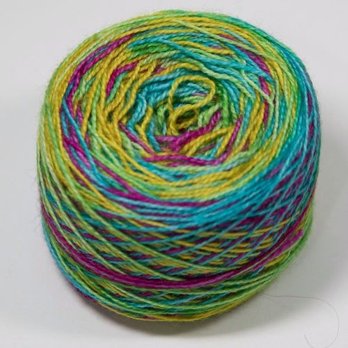4ply self striping BFL & nylon - All of the E Numbers 17AA