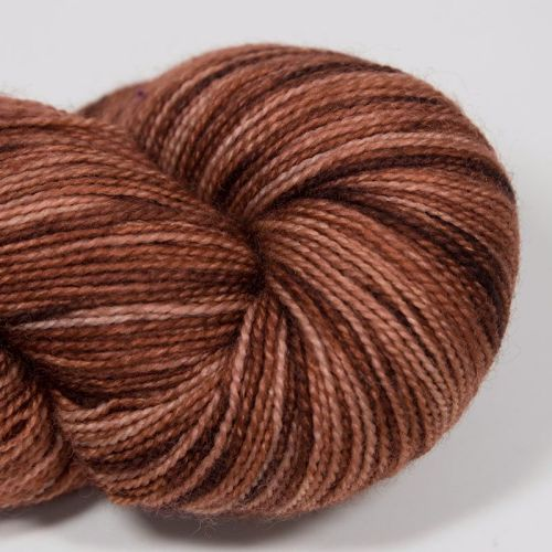 <!-- 001 -->4ply BFL & nylon - Terracotta 17AA