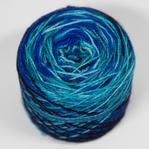 4ply self striping BFL & nylon - Ocean 17X