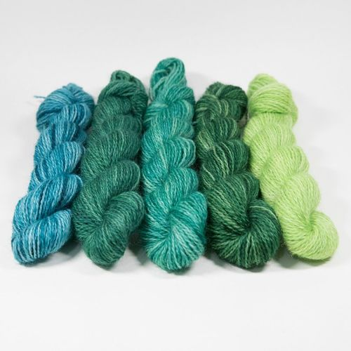 <!-- 004 -->One Farm Yarn - Greens mini skeins