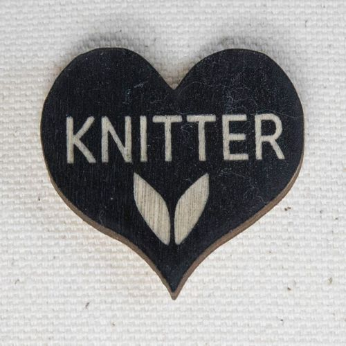Heart Pin - Knitter