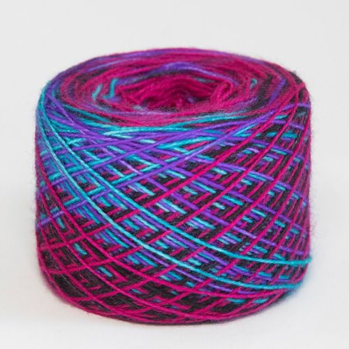 4ply self striping BFL & nylon - Neon Dark 18C
