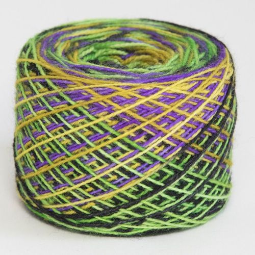 4ply self striping BFL & nylon - Psychedelic Spring 18C