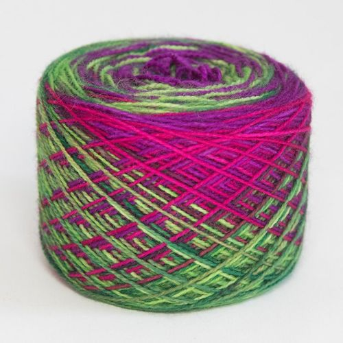 4ply self striping BFL & nylon - You Don't Bring Me Roses 18C