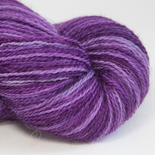 <!-- 002 --> 4ply BFL and Mohair - Berry 18C