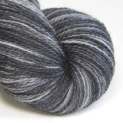 <!-- 003 --> 4ply BFL and Mohair - Coal 18C