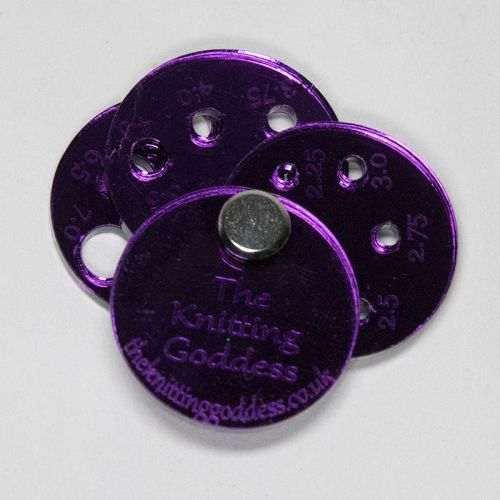 Perspex Stitch Gauge - Purple