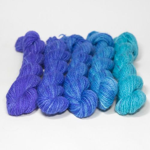 <!-- 004 -->One Farm Yarn - Ocean Blue mini skeins 18E