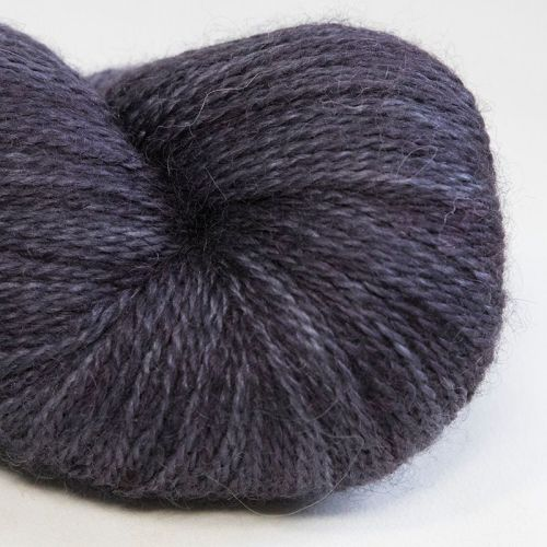 <!-- 002 -->4ply BFL, silk and alpaca - Coal 18D