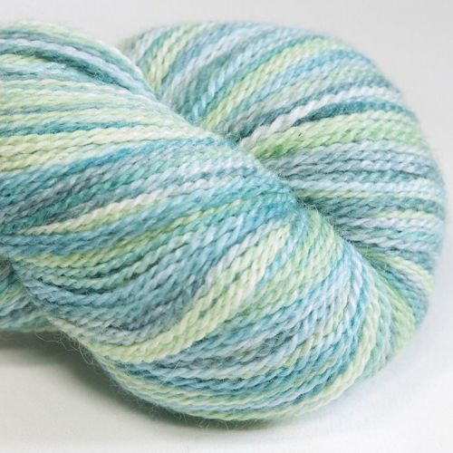 <!-- 001 -->4ply BFL, silk and alpaca - Lime and ... 18D