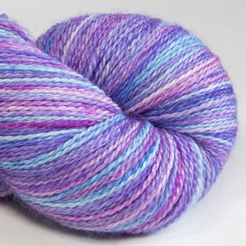 <!-- 001 -->4ply BFL, silk and alpaca - Violet and ... 18D