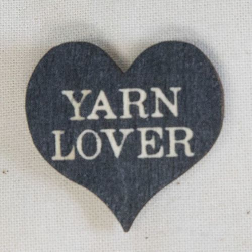 Heart Pin - Yarn Lover