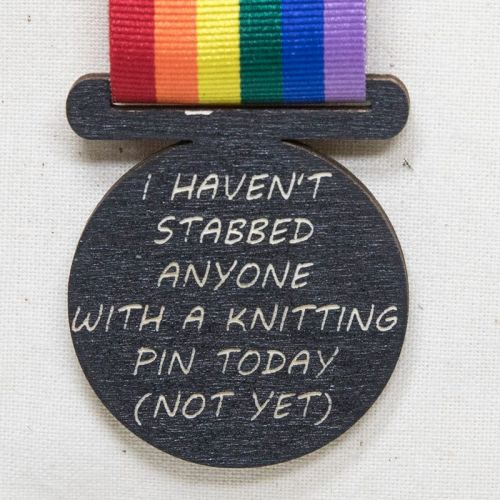 Medal - I haven't stabbed anyone....