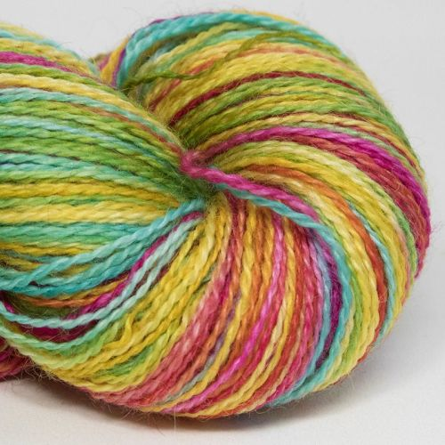 <!-- 001 --> 4ply BFL and Mohair - Almost A Rainbow 18G