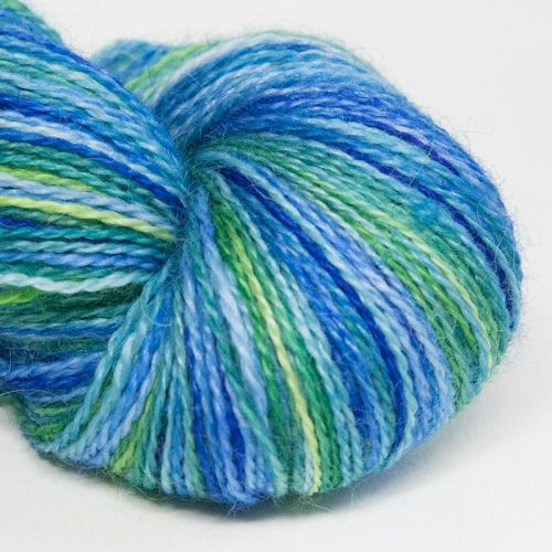 <!-- 001 --> 4ply BFL and Mohair - Cornflower 18G