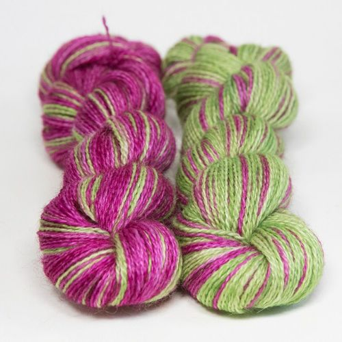 <!-- 004 --> 4ply BFL and Mohair - Jelly Bean 18G
